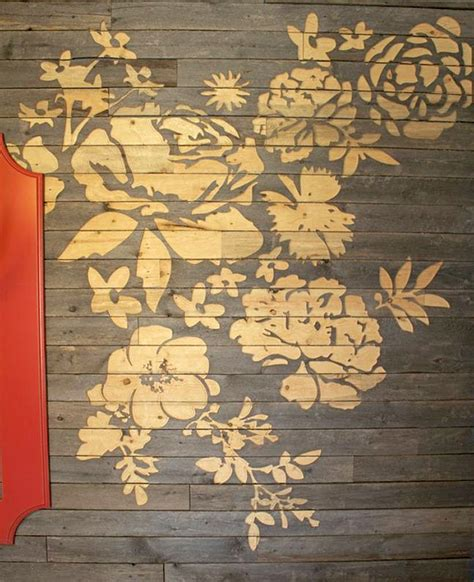 Floral Wall Art Made with CNC Engraved Barn Board