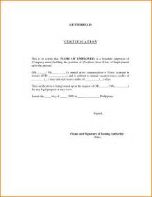 Letter Of Certification Template by Doc 750562 Sle Leave Request Letter Of Leave 92