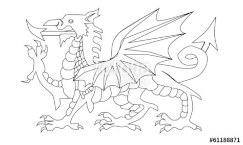 welsh dragon coloring page quot welsh dragon outline quot stock image and royalty free vector