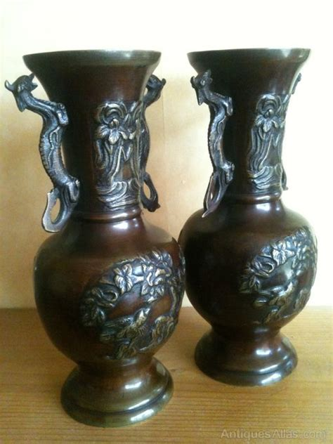 Japanese Bronze Vases by Antiques Atlas Attractive Pair Of Japanese Bronze Vases