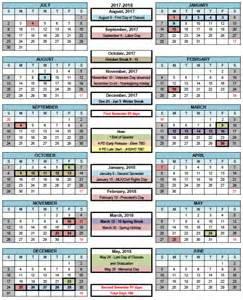 2018 Calendar Wa Mesa Schools 187 Calendars