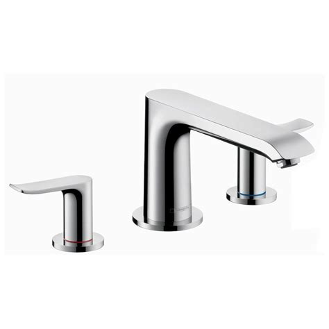 Hansgrohe Metris Faucet by Hansgrohe Metris 2 Handle Deck Mount Tub Faucet Trim Kit In Chrome Valve Not Included