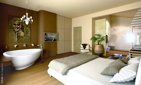 baignoire dans chambre la salle de bain ouverte une tendance qui s affirme