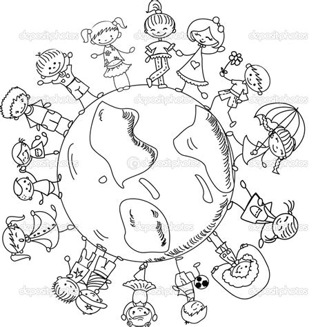 free printable coloring page of the world children of the world coloring pages bestofcoloring com