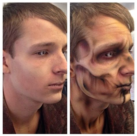 zombie skin tutorial before and after airbrushed zombie how to face paint