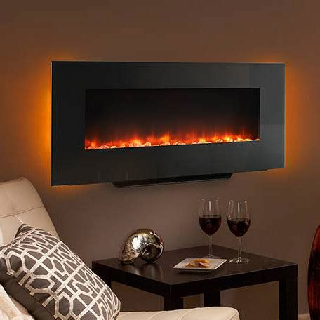 electric wall mount fireplaces hearth home 38 in black linear wall mount electric fireplace sf wms38 bk