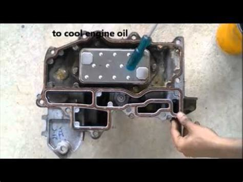how engine oil cooler works. youtube