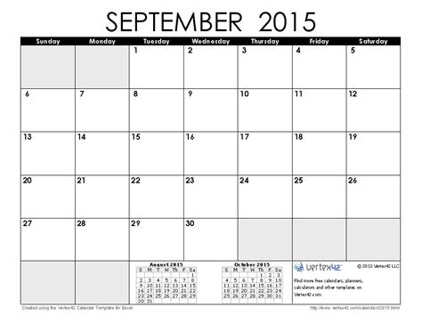 printable monthly planner 2015 september 2015 calendar templates and images