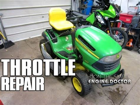 john deere throttle & choke assembly replacement on 155c lawn tractor youtube