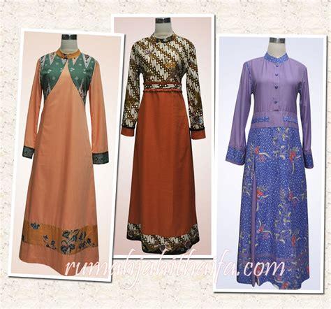 model baju untuk kain polos gamis batik kombinasi polos gamis polos kombinasi batik