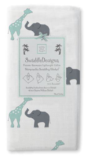 Swaddle Design Swaddle Lite Lush Seacrystal swaddledesigns marquisette swaddling blanket safari seacrystal babitha baby world