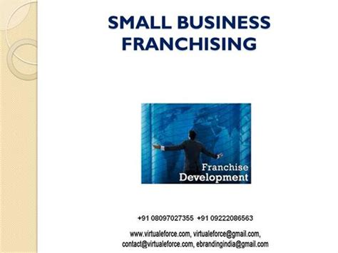Small Home Business Franchise Small Business Franchising Ppt Authorstream