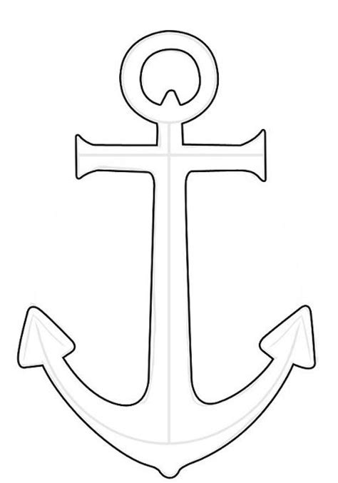 anchor outline3 templates patterns pinterest