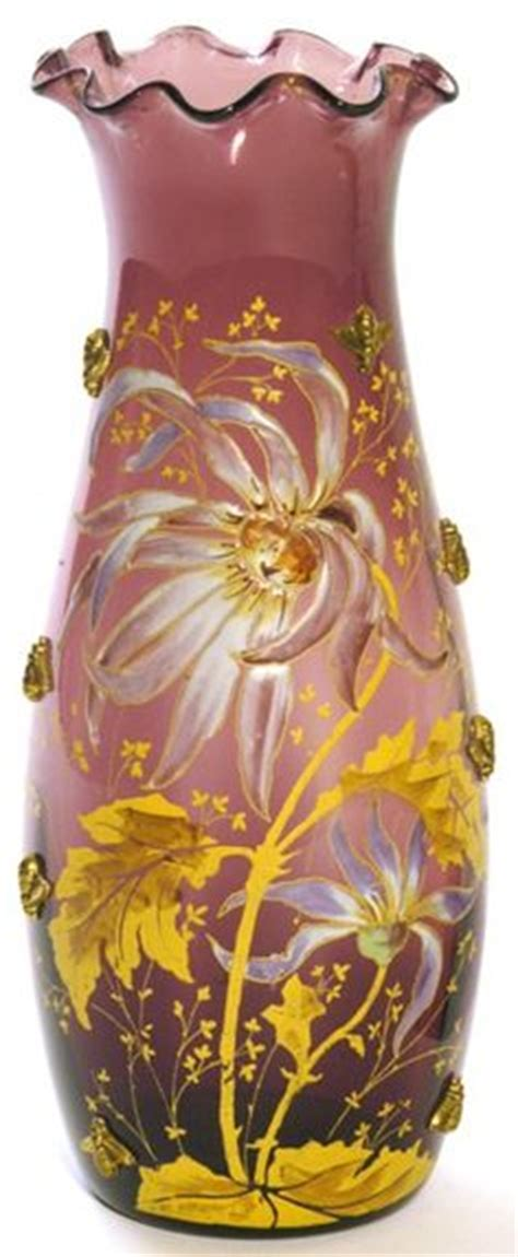 Two Flower Pattern Decorated Shape Perfume Bottle Pendant Kalung 1 moser glass on glass vase cranberry glass and