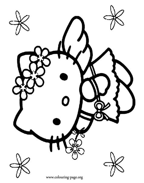 hello kitty angel coloring pages in this awesome picture hello kitty is dressed as an