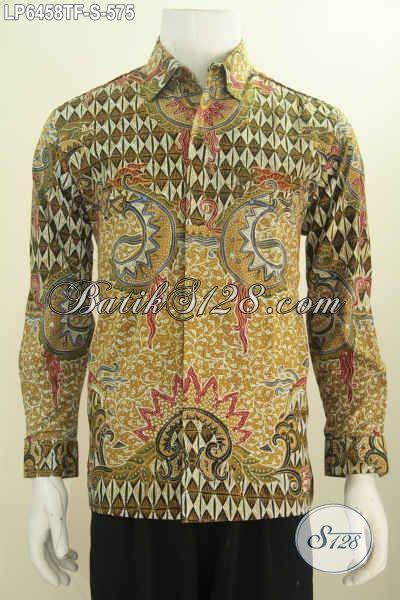 Kemeja Batik Sogan Tangan Panjang kemeja batik premium pria size s hem lengan panjang