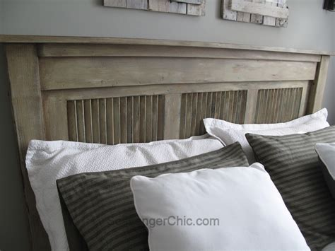 upcycled headboard upcycled shutter headboard scavenger chic