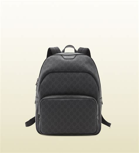 Backpack Gucci Gd 1 lyst gucci gg supreme canvas backpack in gray for