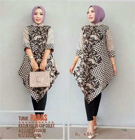 Elegan Tunik Blouse Baju Atasan Wanita Muslim Muslimah Bluss gambar model batik kerja wanita muslimah baju gambar tunik