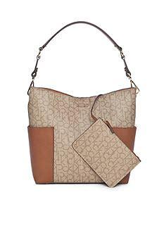 Calvin Klein Classic Monogram Hobo calvin klein handbags belk