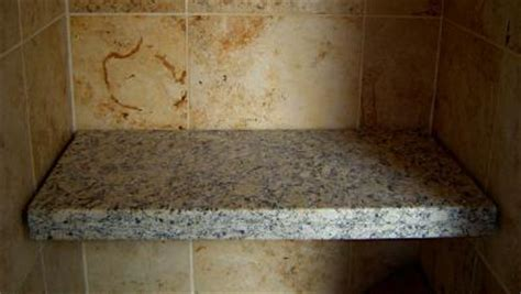 installing granite shower bench bathroom designs
