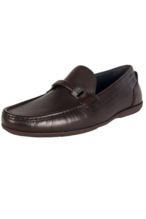 hugo loafer shoes hugo black leather loafers in black and brown flario