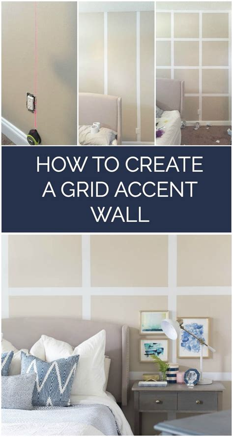 painted wall grid how to create a grid accent wall without paint awesome