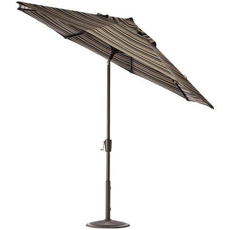Patio Umbrellas That Tilt Home Decorators Collection 6 Ft Auto Tilt Patio Umbrella In Dolce Mango Sunbrella With Bronze