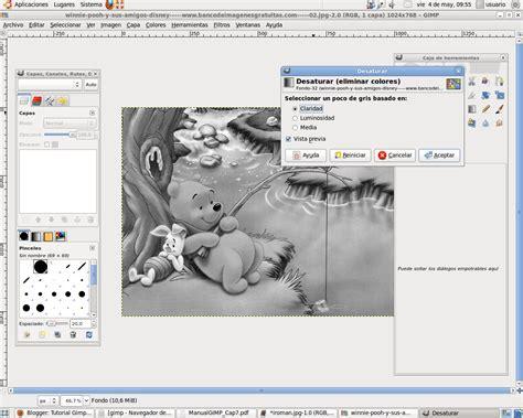 poner imagen blanco y negro gimp tutorial gimp efecto blanco y negro