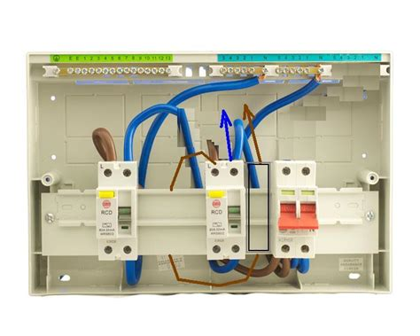 wiring diagram garage rcd unit efcaviation