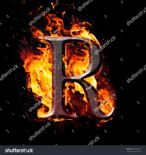 R R Fireplace by Letters Symbols Letter R Stock Illustration 168608942