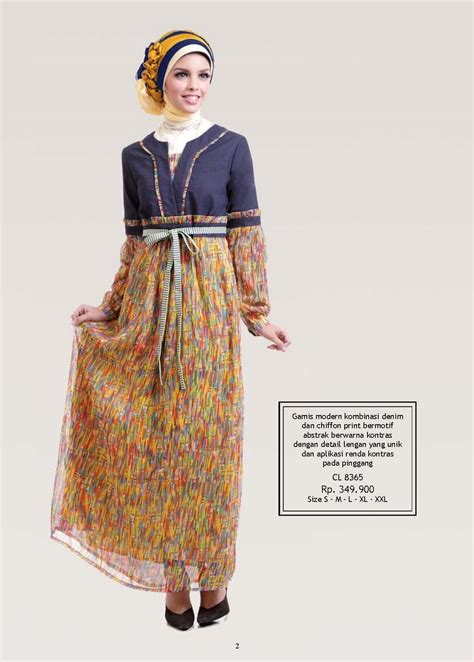 Gamis Denim Kombinasi juli collection 2 calosa busana muslimah