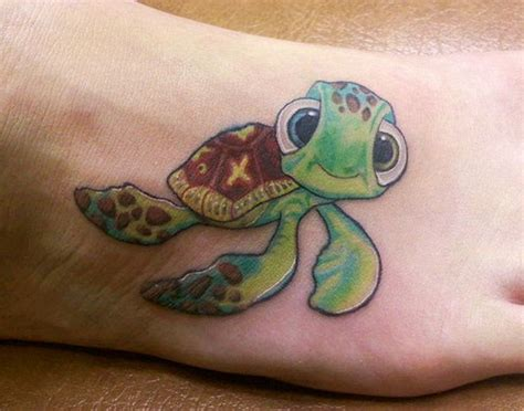 Green Sea Turtle Tattoo On Right Foot Green Sea Turtle Tattoos