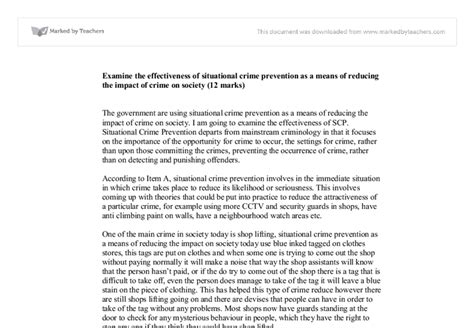 Situational Crime Prevention Essays by Examine The Effectiveness Of Situational Crime Prevention