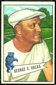 george halas rookie card 1952 bowman large #48 vintage