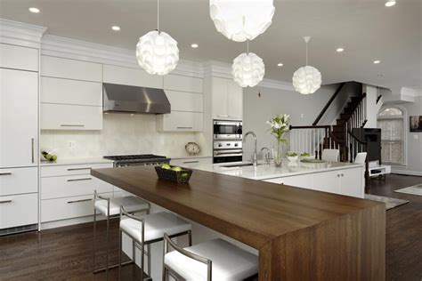 t shaped kitchen island with wooden countertop home 45 dream kitchen remodel pictures home dreamy