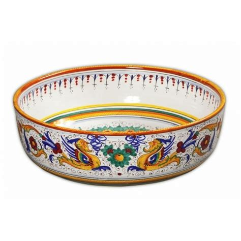 decorative italian bowls raffaellesco large decorative bowl 1