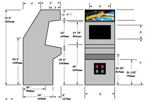 bartop arcade cabinet dimensions popular get wood working plan b one