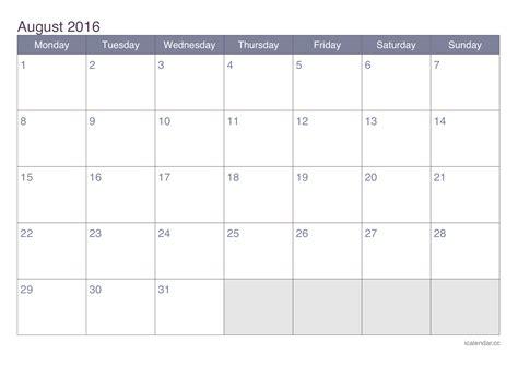 august  printable calendar icalendarsnet
