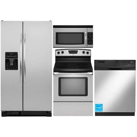 amana kitchen appliances amana asd2575 stainless steel complete kitchen package