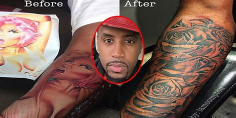 safaree tattoo nicki minaj s ex safaree samuels covers up of
