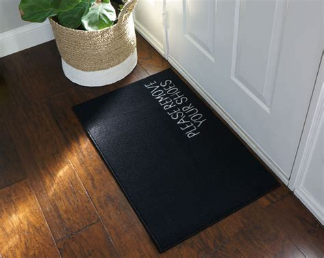 Take Shoes Doormat by 2 X 3 Remove Your Shoes Welcome Doormat Black