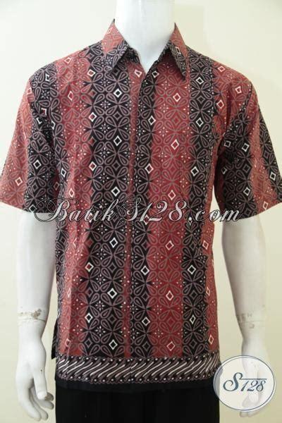 5 Motif Kemeja Pria Kombinasi Batik Cap Hitam Putih Elegan baju batik kombinasi warna hitam dan orange berpadu motif