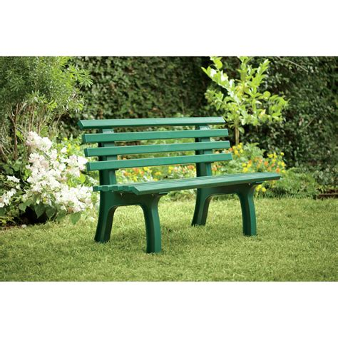 resin garden bench plow hearth resin park bench reviews wayfair
