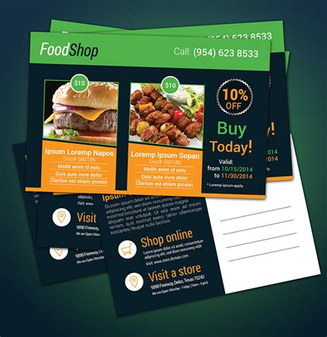 promotional postcard template free postcard template for product promotion on behance