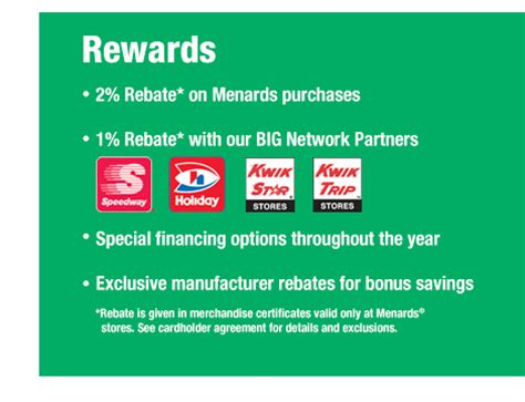 How To Check Menards Gift Card Balance - big card rebates at menards