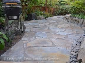 Slate Patio Lewis Landscape Services Beaverton Oregon Flagstone