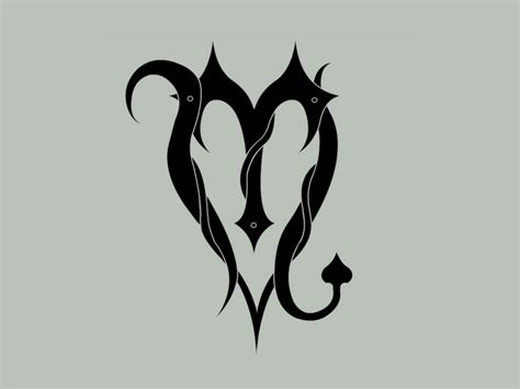 zodiac symbol and tribal scorpion aries and scorpio