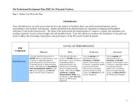professional improvement plan template professional development plan for teachers sle