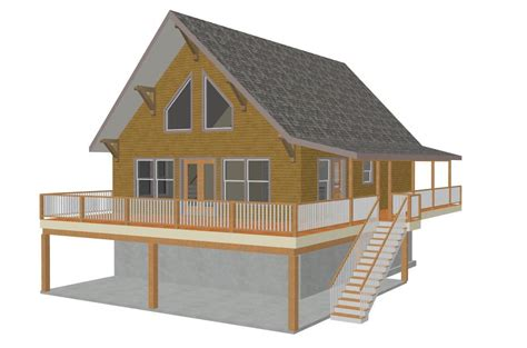 28 x 36 mountain cabin plan 1064 sq ft sds plans